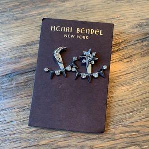 Henri Bendel Star and Moon Earrings